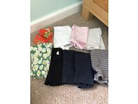 9 pairs of leggings size 12-18 months.