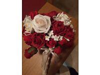 Handmade beautiful artificial rose bouquet