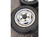 Ford transit mk6 mk7 steel wheels and tyres 15 inch