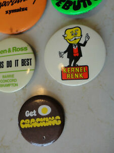 Set of 5 Vintage Button Pins - From 1976.  Very Old $23.00/all 5 Kitchener / Waterloo Kitchener Area image 2