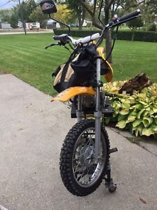 TONIGHT ONLY- $740:  Dirtbike, Stand, Helmet, Parts & Much More