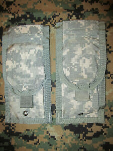 TWO US ARMY ACU  M-4 M-16,,, 5.56mm , MOLLE II Mag Pouchs, New.