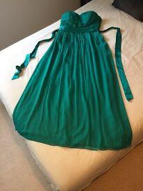 Coast Teal Maxi Dress Size 14