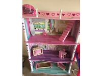 Glamour mansion barbie dolls/playhouse
