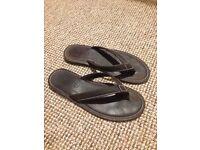 Men's All Saint leather flip flops