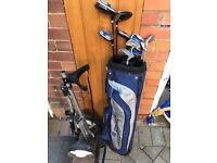 Golf set and trolley