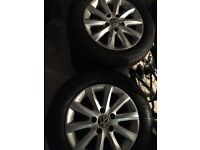 "15"" Volkswagen (vw) alloys and tyres"