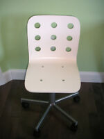 IKEA Jules Junior Desk Chairs - 1 White and 1 Pink
