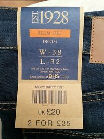 GREAT CHRISTMAS PRESENT REDUCED - BNWT Men's Slim Fit Denim Jeans