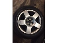 Audi Vw Vag A4 A3 Golf Bora Sharan Alloys with tyres