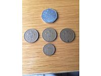 Variety of coins new pence- cash money currency uk collectable