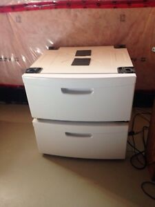 "2 White Kenmore Pedestals with drawer 14"" high"