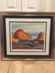 Group of seven framed picture. 35x32