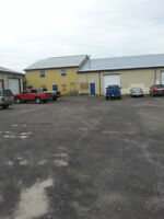 2000 sqft commercial unit with 12 ft overhead door