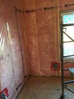 Basement wall framing and insulation