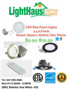 ☆ LED Slim Panel Light ☆ T8 Tube LED ☆ Pot light bulb ☆