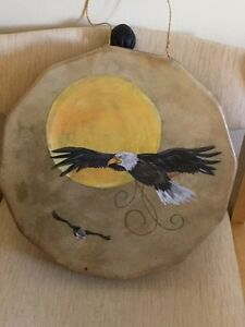 deer skin hand made and painted hand drum