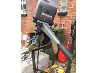 60hp mariner outboard with tiler handle boat engine