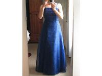 Blue ballgown / prom dress / bridesmaid's dress (size 8-10)