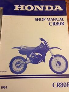 1984 Honda CR80R Shop Manual Regina Regina Area image 1