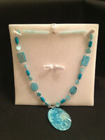 Aqua Flare Necklace