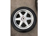 "ORGINAL GENUINE NEARLY NEW LENSO RACING 17""ALLOY WHEELS 4 MINT LASSA SPORT TYRES- A3 A4 TT GOLF"