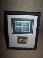 DUCKS UNLIMITED 2002,SET OF FOUR $5.00 STAMPS with GOLD COLORED