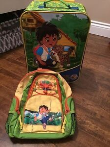 Toddler Suitcase and back pack set