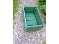 Green Wooden Garden Planter