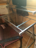 MOVING SALE: Glass Desk and Chair