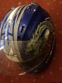 Syko serpent motorbike helmet large £10