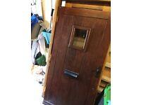 Front oak door
