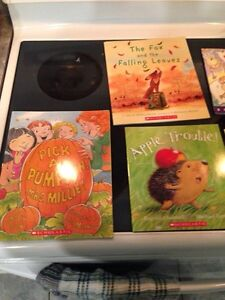 Fall and Halloween stories with audio cds.