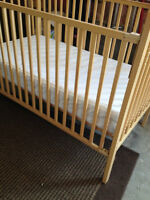 CRIB bed with mattress   great condition