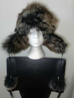 Chapeau vraie fourrure mouton Trapper bomber hat real sheep fur