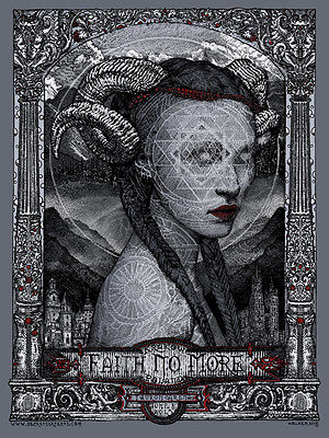 FAITH NO MORE poster Krakow 2015 by David Welker ARTIST PROOF