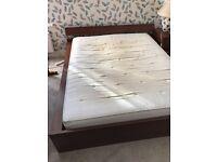 IKEA Malm King size bed and mattress.