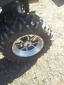 14'' SS mags / rims and 27' Big horn tires 110x4 bolt pattern