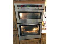 Neff stainless steel double oven, model U1661