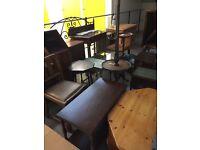 Vintage style rustic furniture