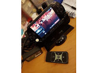 Psp console Black & Pink with docking station