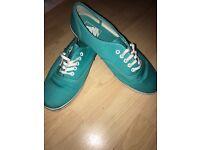 Genuine Turquoise Vans UK 7.5