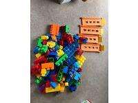Mega Bloks blocks bundle with tracks