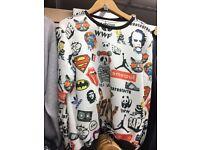 Joblot t shirt vest jumper sweatshirt jacket over 2000 pieces