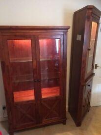 Mahogany Display Cabinets/Units x2