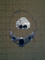 Brand New - Blue Fashion Necklace & Earring Set