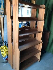 IKEA wood shelves