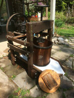 Antique Cider Press and Crusher (fully restored)