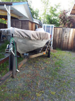 14 ft Aluminum Boat on trailer