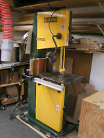 18: Craftex Bandsaw on Casters -  extra blades and rip fence